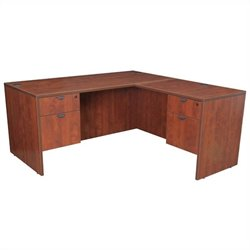 Regency Legacy Desk with Pedestals and Return in Cherry - 60 inch