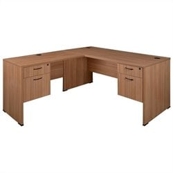 Regency Sandia L-Desk with Pedestals in Marasca - 60 inch