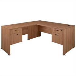 Regency Sandia L-Desk with Pedestals in Marasca