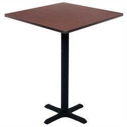 Regency Square Cafe Table in Mahogany - 30 inch