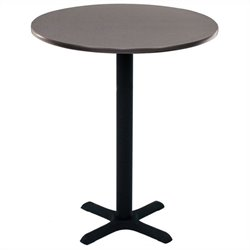 Regency Round Cafe Table in Gray - 30 inch