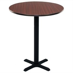 Regency Round Cafe Table in Mahogany - 30 inch
