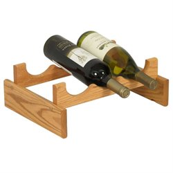 Dakota 3-Slot Wine Rack in Light Oak