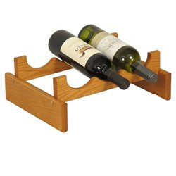 Dakota 3-Slot Wine Rack in Medium Oak