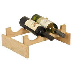 Dakota 3-Slot Wine Rack in Natural