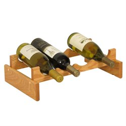 Dakota 4-Slot Wine Rack in Light Oak