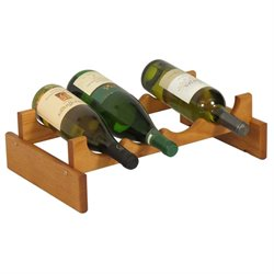Dakota 4-Slot Wine Rack in Medium Oak