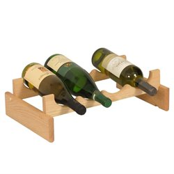 Dakota 4-Slot Wine Rack in Natural