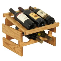 Dakota 3-Slot Display Top Wine Rack in Light Oak