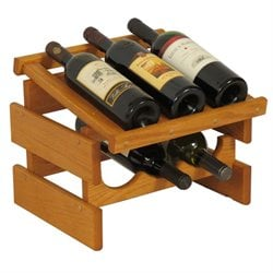Dakota 3-Slot Display Top Wine Rack in Medium Oak