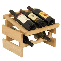 Dakota 3-Slot Display Top Wine Rack in Natural