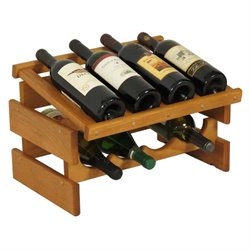 Dakota 4-Slot Display Top Wine Rack in Medium Oak