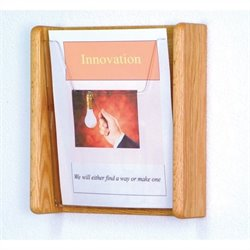 Wooden Mallet 1 Pocket Acrylic and Oak Wall Display in Light Oak