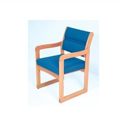 Dakota Wave Valley Sled Base Reception Chair in Light Oak