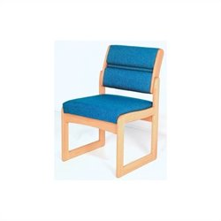 Dakota Wave Valley Armless Guest Chair in Light Oak