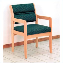 Dakota Wave Valley Standard Leg Chair with Designer Fabric in Light Oak