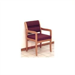 Dakota Wave Valley Standard Leg Chair in Medium Oak