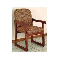 Dakota Wave Prairie Sled Base Chair in Mahogany