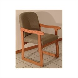 Dakota Wave Prairie Sled Base Chair in Medium Oak