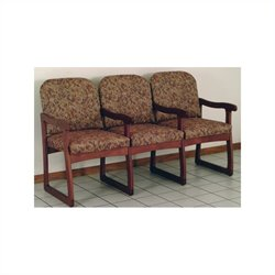 Dakota Wave Prairie Triple Sled Base Chair in Mahogany