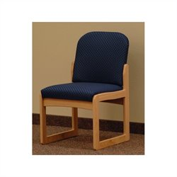 Dakota Wave Prairie Sled Base Armless Chair in Light Oak