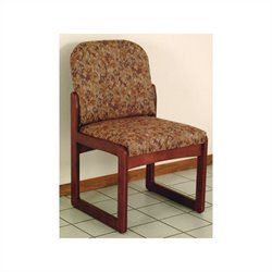 Dakota Wave Prairie Sled Base Armless Chair in Mahogany
