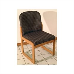 Dakota Wave Prairie Sled Base Armless Chair in Medium Oak