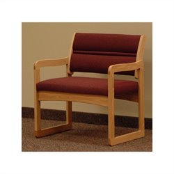 Dakota Wave Bariatric Chair in Light Oak