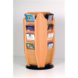 Wooden Mallet Countertop 16 Brochure Rotating Display in Light Oak