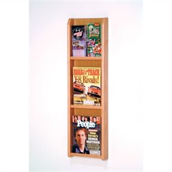 Wooden Mallet 3 Magazine and 6 Brochure Wall Display in Light Oak