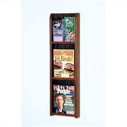 Wooden Mallet 3 Magazine and 6 Brochure Wall Display in Mahogany