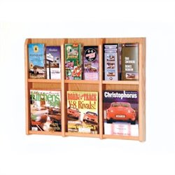Wooden Mallet Magazine and Brochure Wall Display in Light Oak