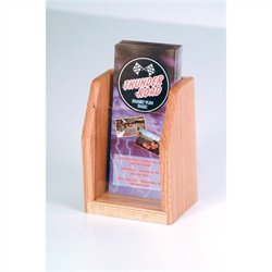 Wooden Mallet 1 Pocket Brochure Display in Light Oak