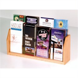 Wooden Mallet 8 Pocket Brochure Display in Light Oak