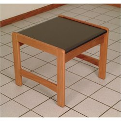 Dakota Wave End Table in Medium Oak