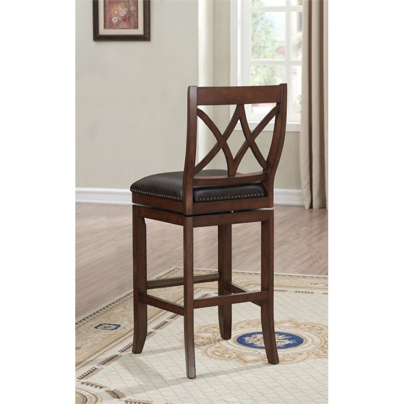 American Heritage Hadley 26 Quot Leather Swivel Counter Stool