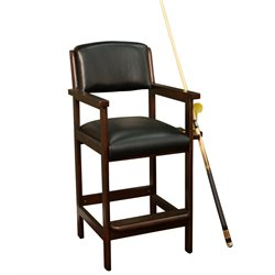 American Heritage Spectator Billiard Chair in Suede