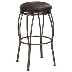 American Heritage Ashley Adjustable Faux Leather Swivel Bar Stool