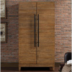 American Heritage Braxton Home Bar Cabinet in a Reclaimed Wood