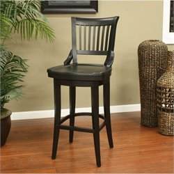 American Heritage Billiards Liberty Bar Stool in Black