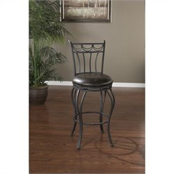 American Heritage Abella Bar Stool in Iron