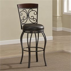 American Heritage Amelia Bar Stool in Pepper - 26 Inches