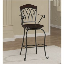 American Heritage Arielle Bar Stool in Slate - 26 Inches