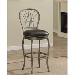 American Heritage Harper Bar Stool in Rustic Pewter