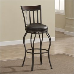 American Heritage Billiards Lola Bar Stool in Pepper