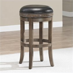 American Heritage Sonoma Bar Stool in Weathered Oak - 26 Inches