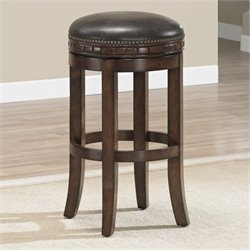 American Heritage Sonoma Bar Stool in Suede - 26 Inches