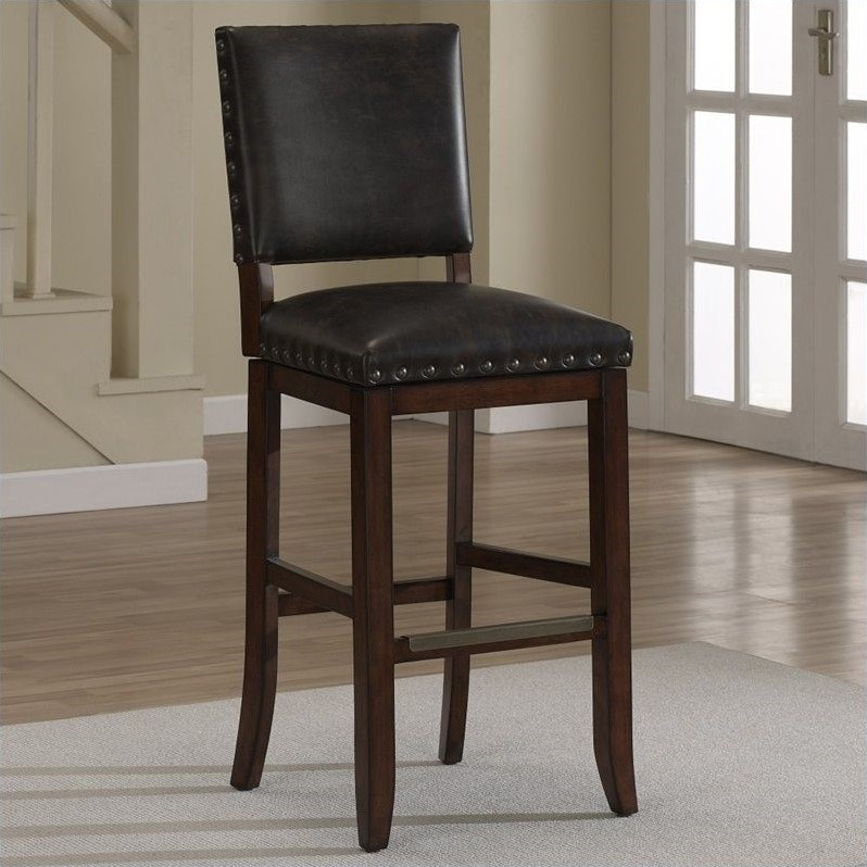 American Heritage Billiards Sutton Bar Stool in Suede