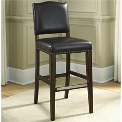 American Heritage Worthington Leather Bar Stool in Tobacco - 26 Inch