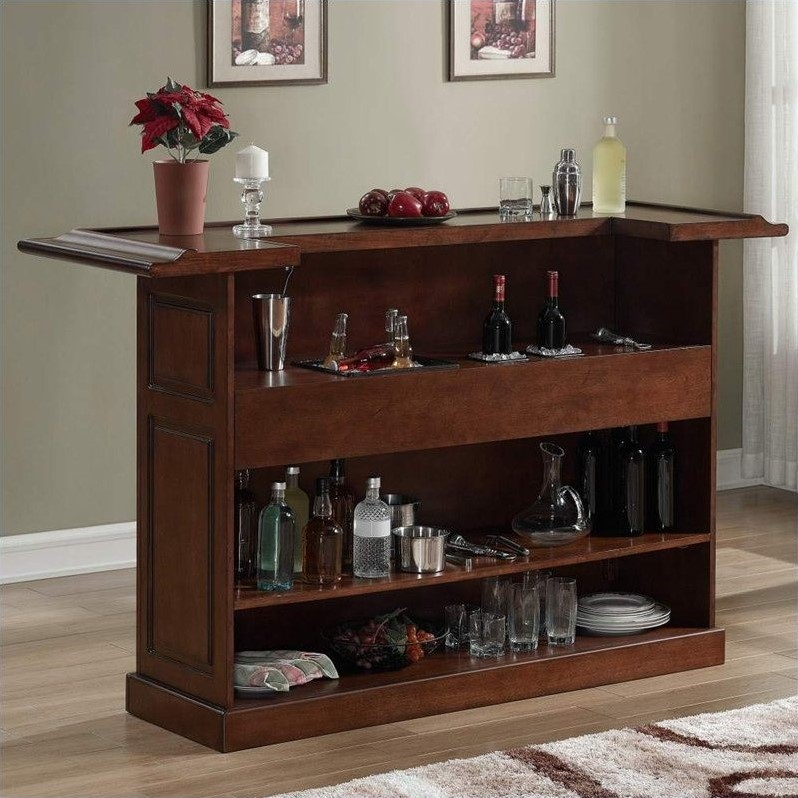 American Heritage Billiards Lexington Home Bar In Suede 600011sd